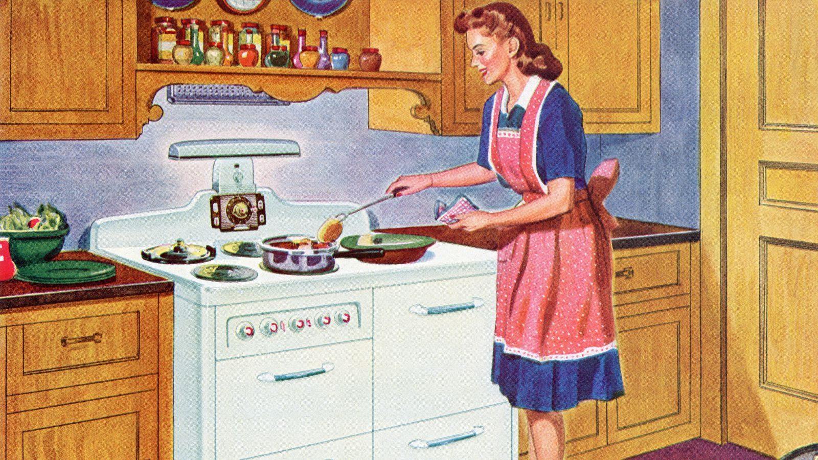 Открытки домохозяйки, картинки про